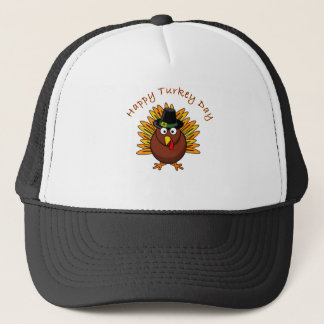 Happy Turkey Day Thanksgiving T Shirt Trucker Hat