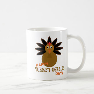 Happy Turkey Gobble Day Thanksgiving Coffee Mug