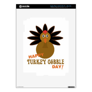 Happy Turkey Gobble Day Thanksgiving iPad 3 Decal