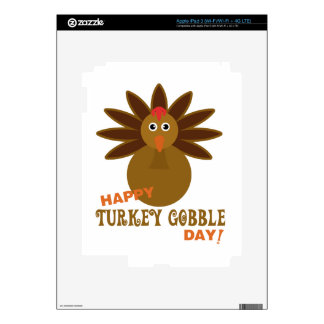 Happy Turkey Gobble Day Thanksgiving iPad 3 Decals