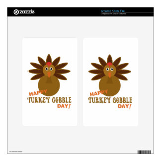 Happy Turkey Gobble Day Thanksgiving Kindle Fire Skins