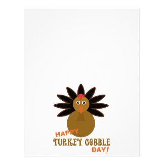 Happy Turkey Gobble Day Thanksgiving Letterhead
