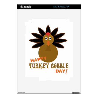Happy Turkey Gobble Day Thanksgiving Skins For The iPad 2