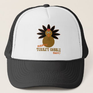 Happy Turkey Gobble Day Thanksgiving Trucker Hat