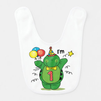 Happy Turtle 1st Birthday Bib