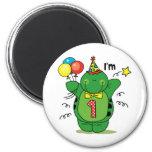 Happy Turtle 1st Birthday Magnet