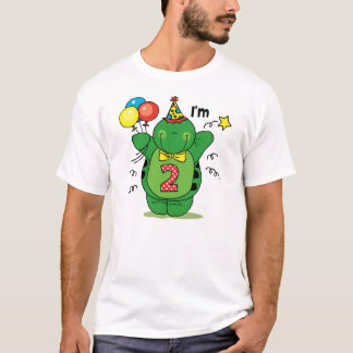 Happy Turtle 2nd Birthday T-Shirt