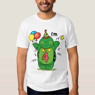 Happy Turtle 4th Birthday Tee Shirt