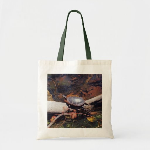 Happy Turtle Budget Tote Bag