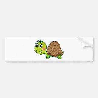 Happy Turtle bumper sticker