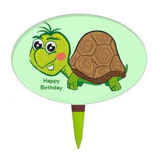 Happy Turtle - cake pick