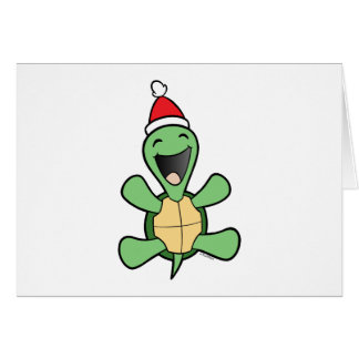 Happy Turtle Christmas Greeting Card