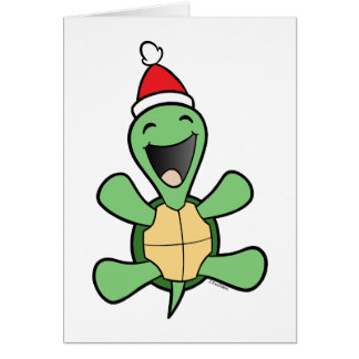 Happy Turtle Christmas Cards