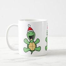 Happy Turtle Christmas Coffee Mug