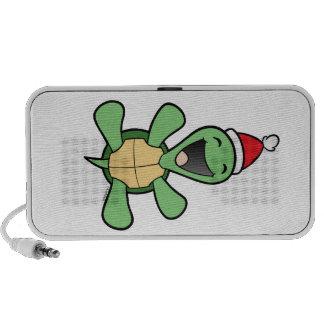 Happy Turtle Christmas iPhone Speaker