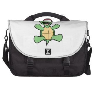 Happy Turtle Christmas Laptop Shoulder Bag