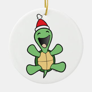 Happy Turtle Christmas Ornaments