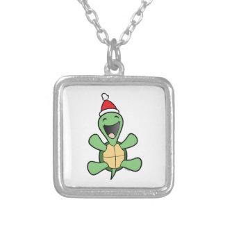Happy Turtle Christmas Pendant
