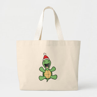 Happy Turtle Christmas Tote Bag