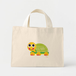 Happy Turtle Floral Tote Bag - Customized