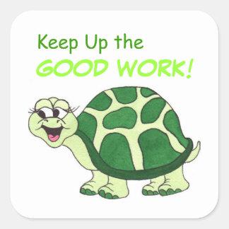 Happy Turtle - Good Work Customizable Sticker