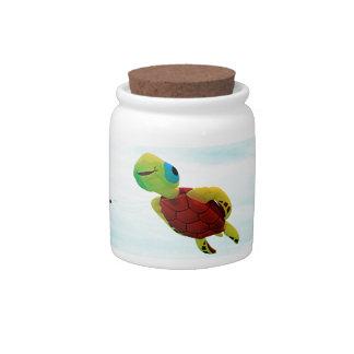 Happy turtle kite flying candy jar
