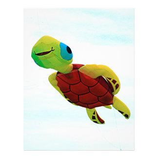 Happy turtle kite flying letterhead