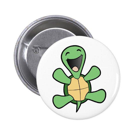 Happy Turtle Pinback Button