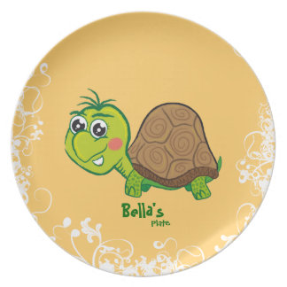 Happy Turtle - plate for kids