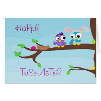 Happy Twee-aster Card