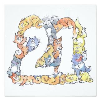 Happy twenty first. card