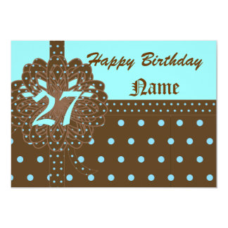 Happy Twenty-Seventh Birthday Gift Invitation