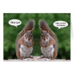 Happy Twins Day, Red Squirrel Humor, Cute and Pers Greeting Cards
