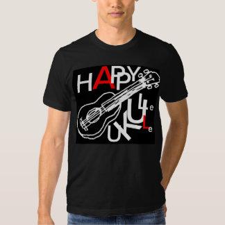happy ukulele black shirt