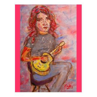 happy ukulele days postcard
