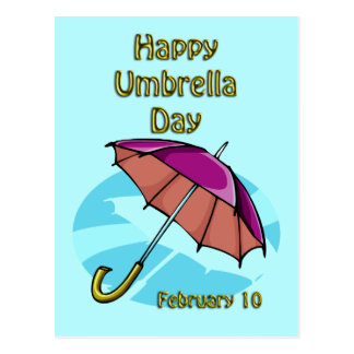 Happy Umbrella Day February 10 Postcard