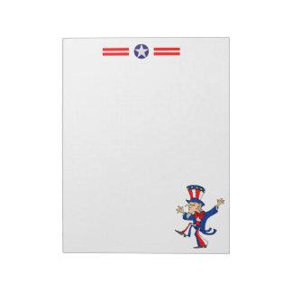 Happy Uncle Sam Memo Notepad