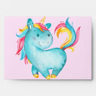 Happy Unicorn BasicPaper Color: WhiteTint: None Envelope
