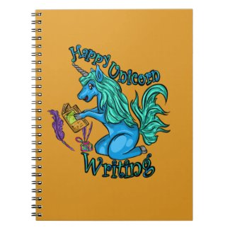 Happy Unicorn Writing Spiral Notebook