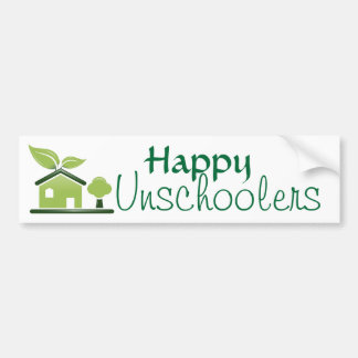 Happy Unschoolers Bumper Sticker