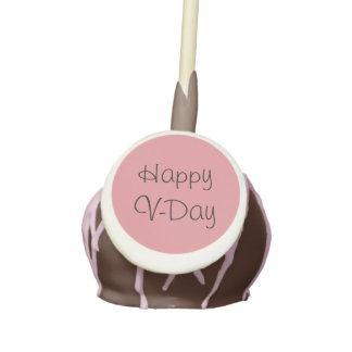 """""""Happy V-Day"""" Valentine's Day Cake Pops"""