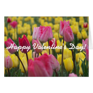 Happy Valentime's Day Tulips Card