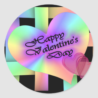 Happy Valentine's Day Classic Round Sticker