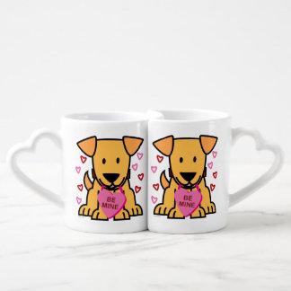 Happy Valentine Be Mine Heart Puppy Couples Coffee Mug