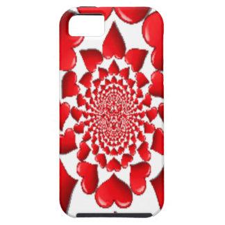 Happy Valentine Big Red Hearts iPhone SE/5/5s Case