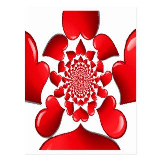 Happy Valentine Big Red Hearts Postcard