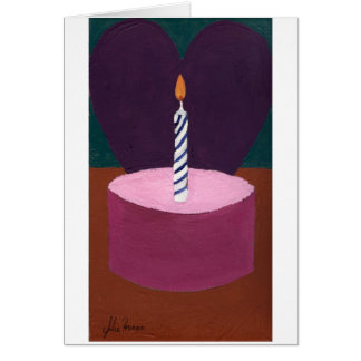 Happy Valentine Birthday Painting by Julia Hanna Card
