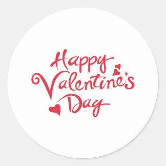 Happy valentine classic round sticker