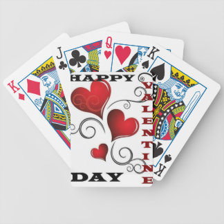 happy valentine day. bicycle playing cards