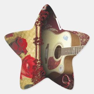 Happy Valentine day Tunes in my heart Star Sticker